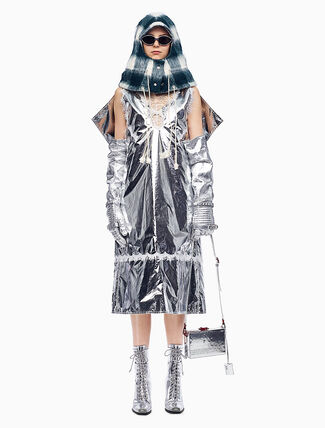 CALVIN KLEIN SPACE BLANKET OVERDRESS