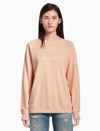 CALVIN KLEIN モノグラムロゴ スウェットシャツ