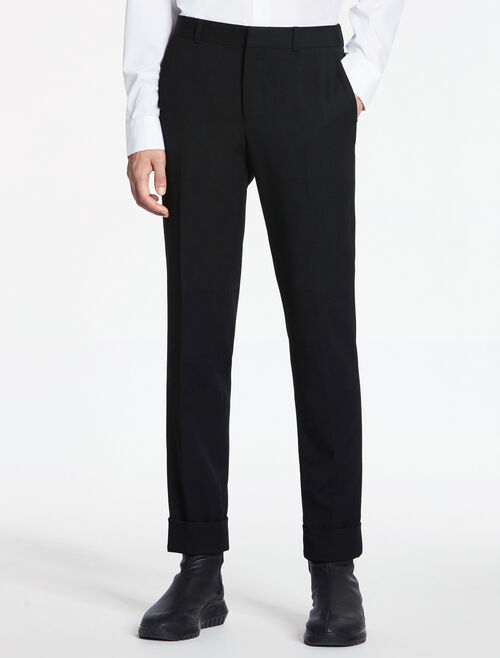CALVIN KLEIN MODERN WOOL DRILL PANTS - HALF LINED