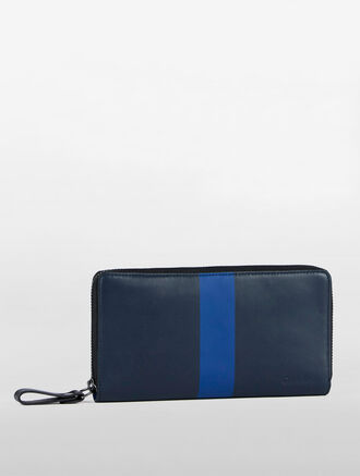 CALVIN KLEIN TAPE UTILITY LONG ZIP AROUND WALLET