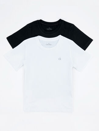 CALVIN KLEIN BOYS MODERN COTTON 2 PACK TEE WITH SHORT SLEEVE