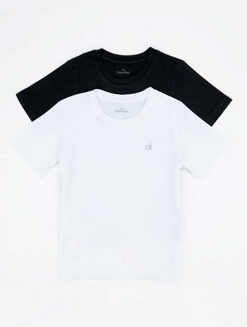 CALVIN KLEIN MODERN COTTON 2-PACK TEES WITH SHORT SLEEVES