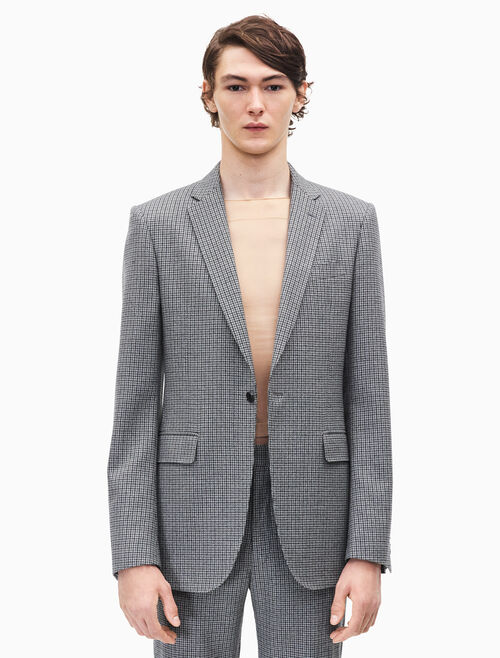 CALVIN KLEIN slim fit single-breasted blazer