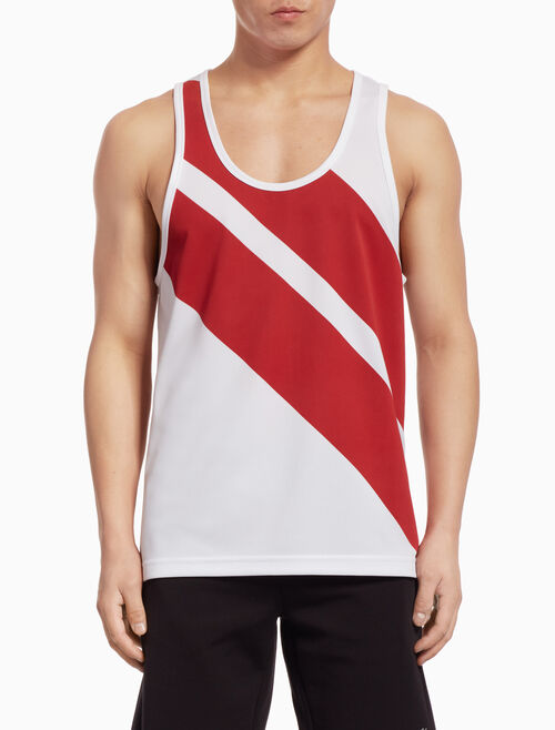 CALVIN KLEIN DIAGONAL STRIPE TANK TOP