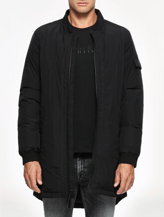 CALVIN KLEIN LONG BOMBER DOWN JACKET
