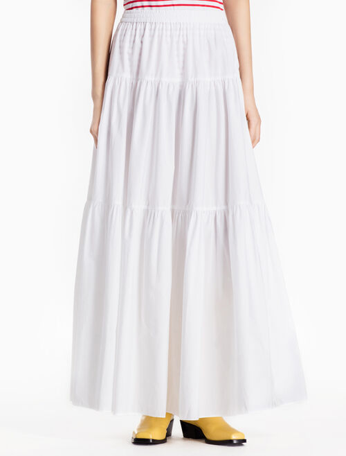 CALVIN KLEIN WOVEN MAXI SKIRT WITH RUFFLES