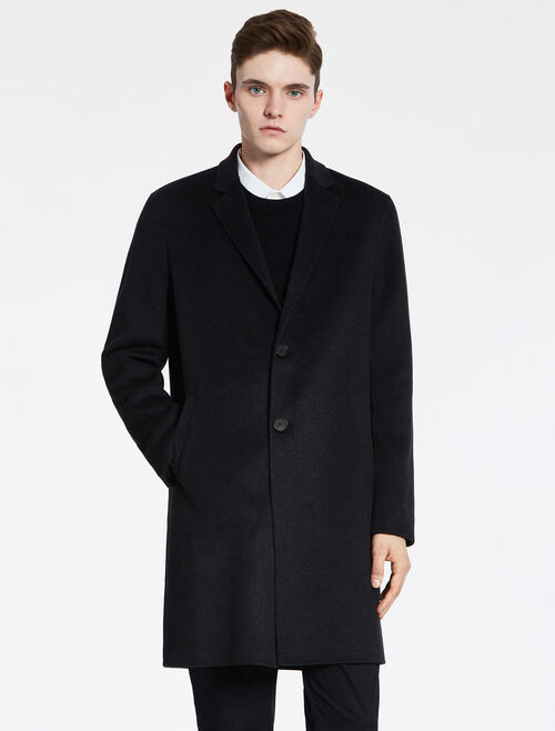 CALVIN KLEIN DENSE FELT TAILORED COAT - HAND-STITCH