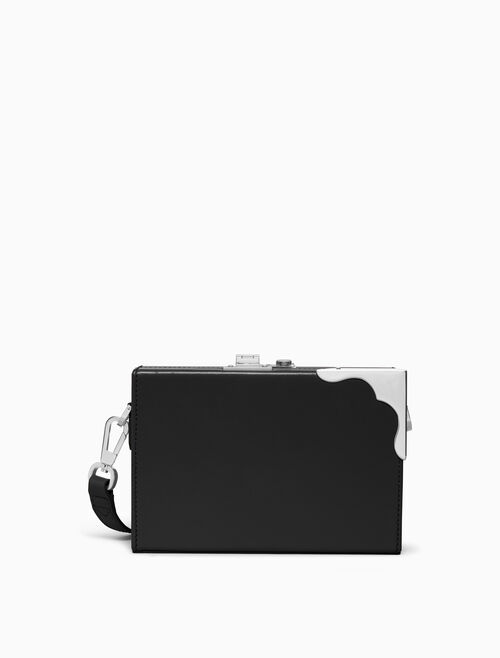 CALVIN KLEIN LUXE CALF MINI BOX CLUTCH