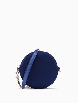 CALVIN KLEIN SUEDE CIRCLE BAG (SMALL)