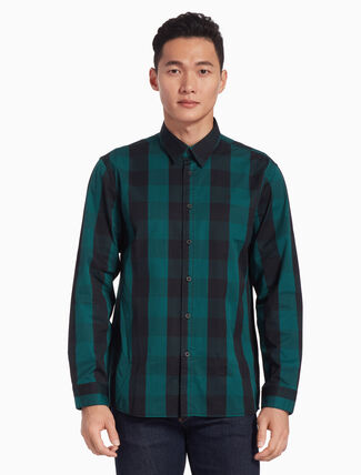 CALVIN KLEIN GINGHAM CHECK SHIRT