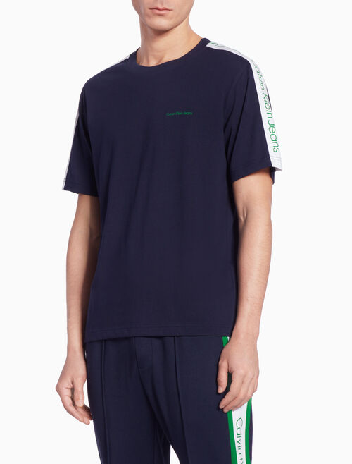 CALVIN KLEIN SIDE STRIPE ロゴ T シャツ