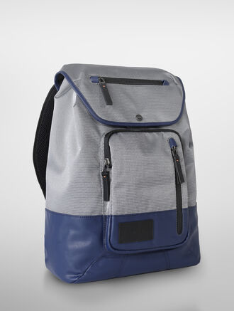 CALVIN KLEIN TECH NYLON FLAP BACKPACK