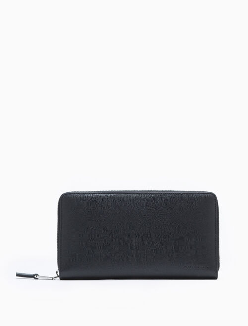 CALVIN KLEIN ZIP-AROUND TRAVEL WALLET