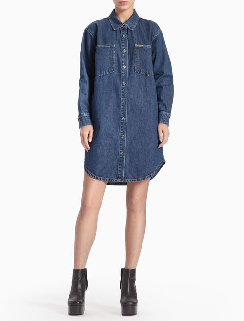 CALVIN KLEIN WASHED ULTILITY SHIRTDRESS