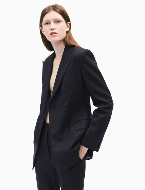 CALVIN KLEIN Double breasted wall street blazer