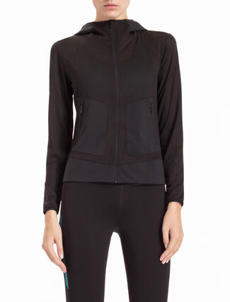 CALVIN KLEIN PERFORATED MESH HOODED JACKET