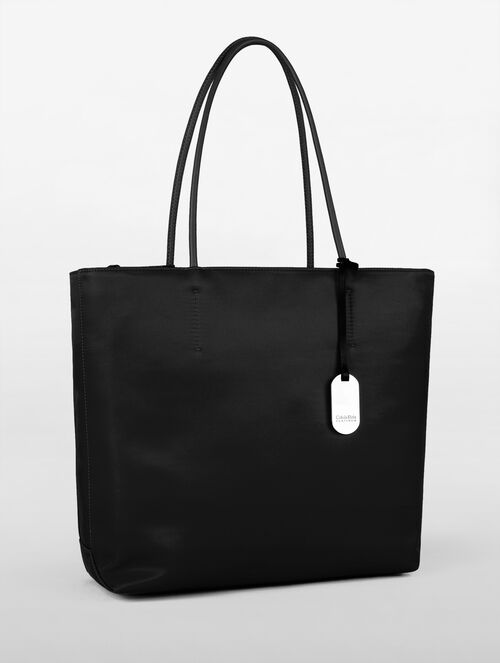 CALVIN KLEIN ENGINEERED NYLON TOTE WITH TOP ZIP