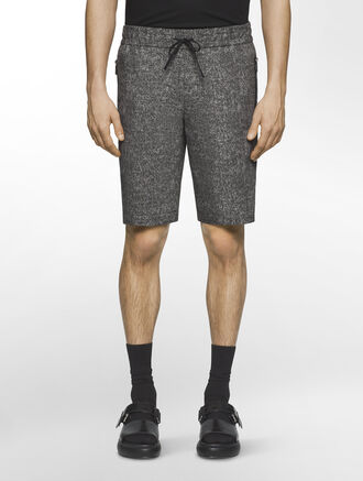 CALVIN KLEIN CANVAS PRINT DRAWSTRING SHORTS( PATRIC SPORT FIT )