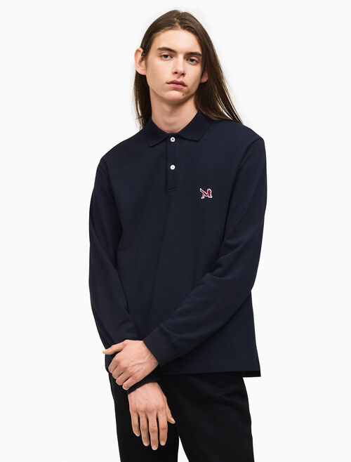 CALVIN KLEIN rugby fit long sleeve polo shirt