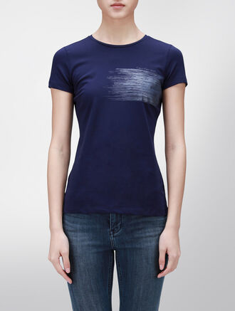 CALVIN KLEIN METAL FASHION TEE