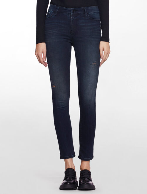 CALVIN KLEIN BLACK WATER HIGH RISE SKINNY JEANS