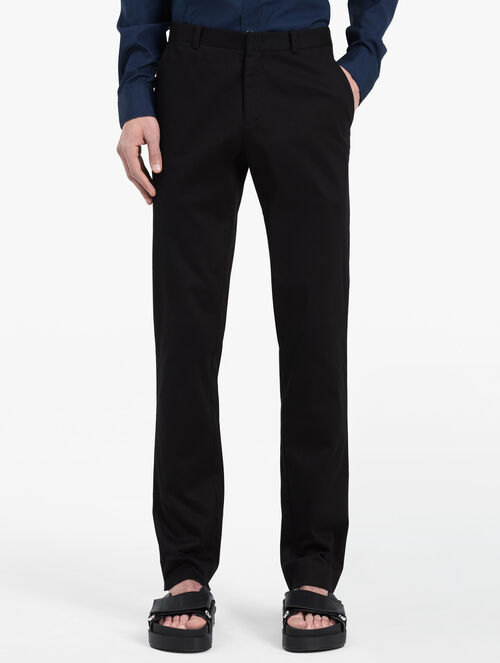 CALVIN KLEIN POWER STRETCH TWILL TAILORED PANTS