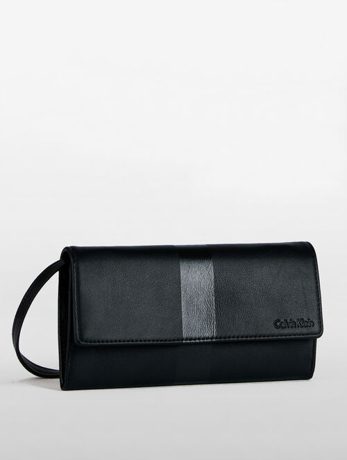 CALVIN KLEIN LONG WALLET WITH STRAP