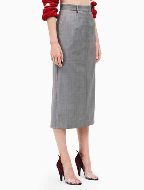 CALVIN KLEIN suiting midi skirt