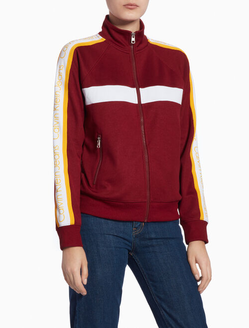 CALVIN KLEIN TRACK JACKET WITH STAND-UP COLLAR