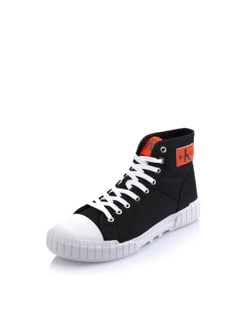 CALVIN KLEIN NYLON HIGH-TOP SNEAKERS