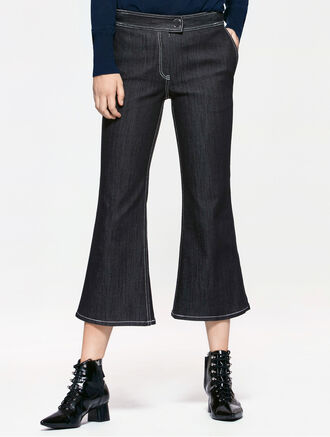 CALVIN KLEIN DENIM FLARED PANTS
