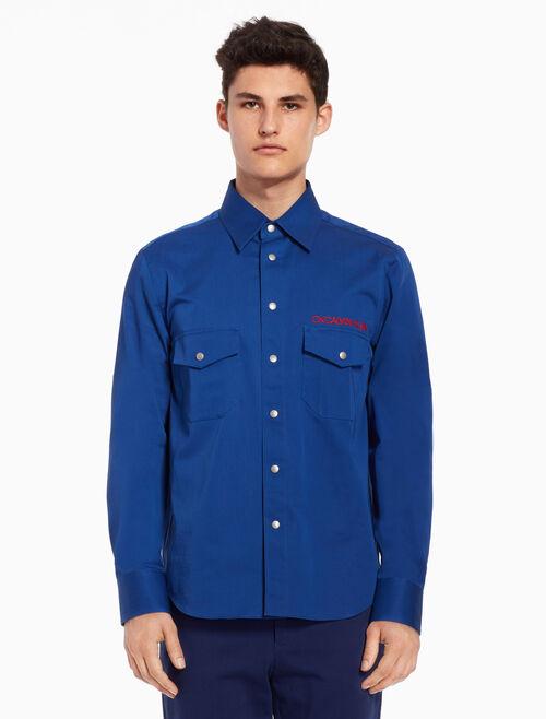 CALVIN KLEIN Woven shirt with logo details