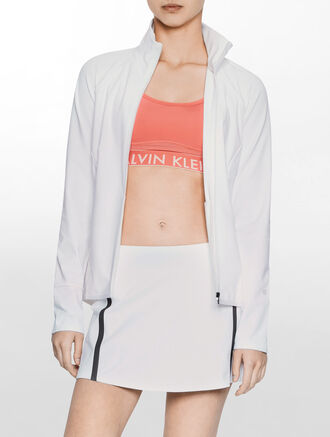 CALVIN KLEIN PREFORATED JACKET WITH REFLECTIVE TAPE