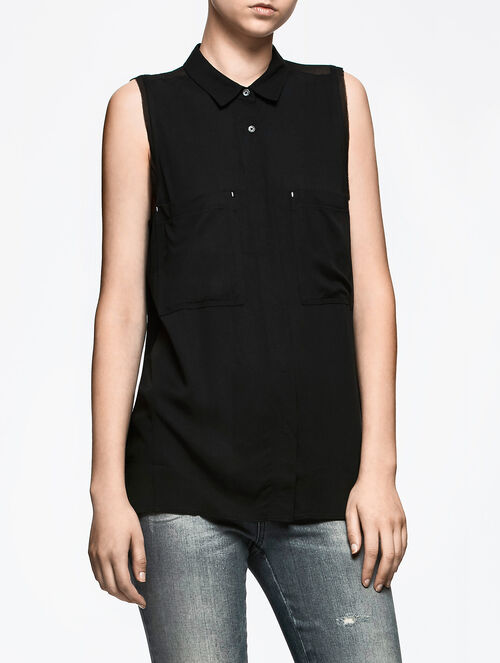 CALVIN KLEIN EVIE SLEEVELESS SHIRT