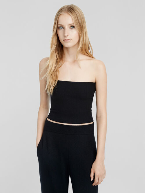 CALVIN KLEIN STRETCH CASHMERE TUBE TOP