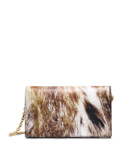 CALVIN KLEIN METALLIC CALF SMALL CLUTCH WITH CHAIN STRAP
