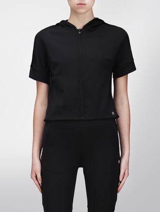 CALVIN KLEIN SHORT SLEEVES HOODED SWEAT SHIRT