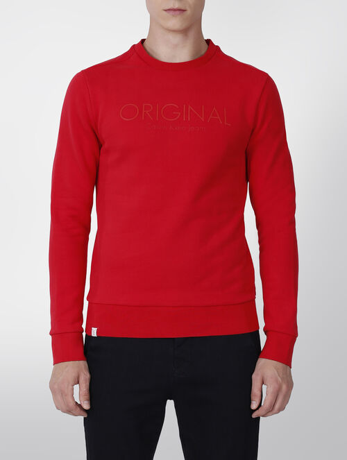 CALVIN KLEIN SUPIMA COTTON LOGO SWEATSHIRT