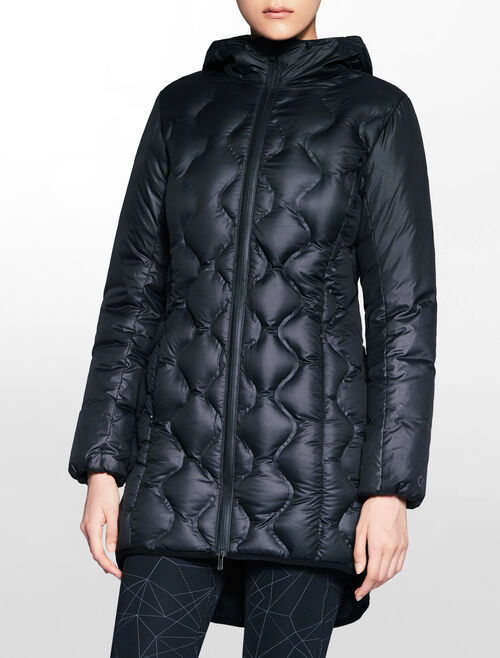 CALVIN KLEIN LONG DOWN JACKET WITH HOOD