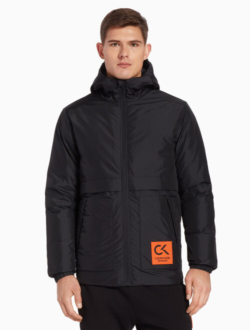 CALVIN KLEIN PATCH DOWN JACKET