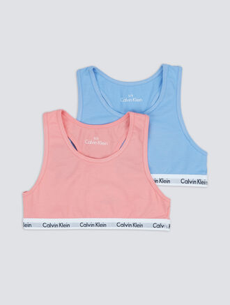 CALVIN KLEIN 2 PACKS KIDS LOGO MANIA BRALETTE - GIRLS