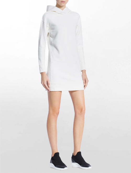 CALVIN KLEIN HOODED SWEAT DRESS
