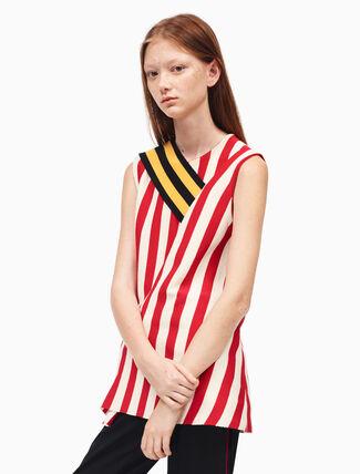 CALVIN KLEIN striped sleeveless top