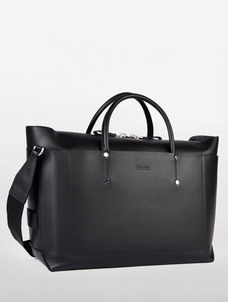 CALVIN KLEIN ENVELOPED CONVERTIBLE DUFFLE WITH TOTE