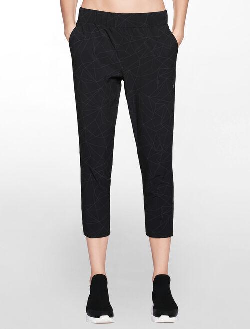 CALVIN KLEIN linear print 7/8 woven print shorts