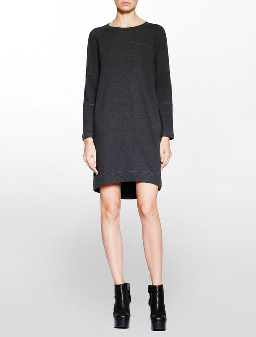 CALVIN KLEIN RACER SWEATSHIRT DRESS