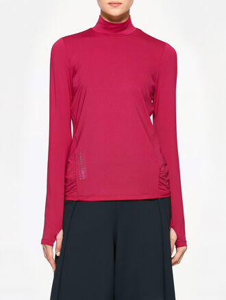 CALVIN KLEIN LONG SLEEVES MOCK NECK TEE