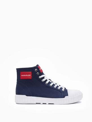 CALVIN KLEIN BIAGIO HIGH TOP LACE UP SNEAKERS