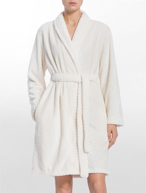 CALVIN KLEIN HEAVY WEIGHT FLUFFY ROBE