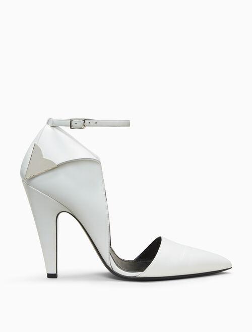 CALVIN KLEIN high heeled deco pump in calf leather